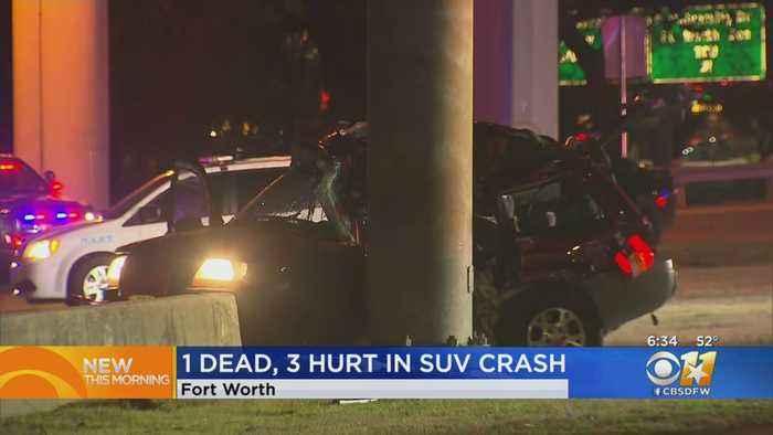 1 Dead After SUV Slams Into Pole Along I-30