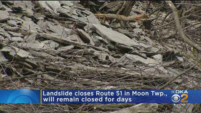 Landslide Impacting Part Of Route 51 In Moon Township