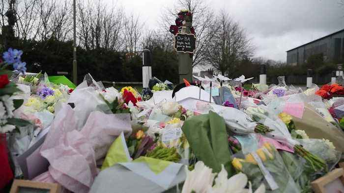 Tributes left at scene of fatal New Year's Eve collision near Heathrow Airport