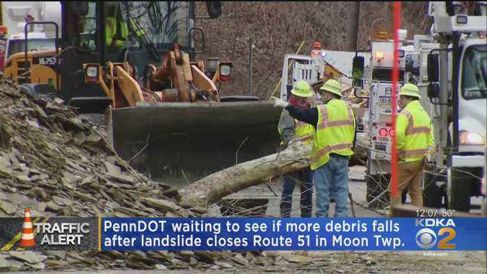 Route 51 Remains Closed Following Landslide