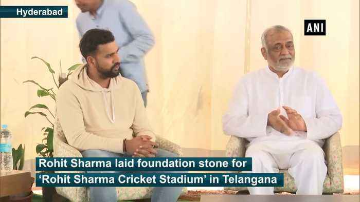 Rohit Sharma lays foundation stone for International cricket in Telangana