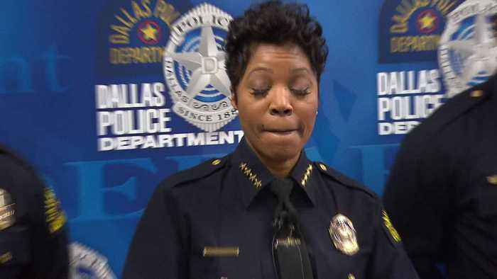 Dallas Police Chief Renee Hall Holds News Conference Over 'Senseless Gun Violence'