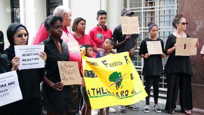 South African anti-apartheid group protests controversial Indian citizenship bill