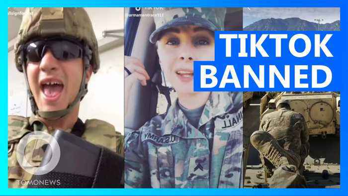 Almost the whole US military has gone to war against TikTok