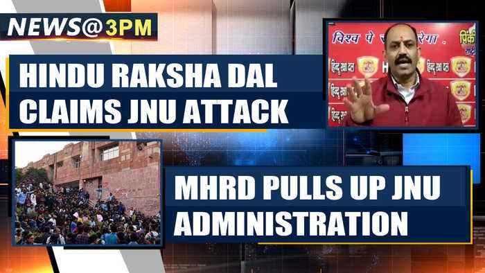 JNU violence: Hindu Raksha Dal claims attacks, Delhi police investigates  | OneIndia News