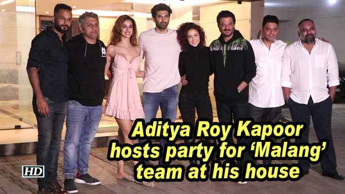 Aditya Roy Kapoor hosts party for 'Malang' team at his house