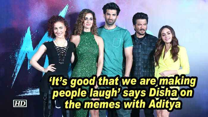 'It's good that we are making people laugh' says Disha on the memes with Aditya
