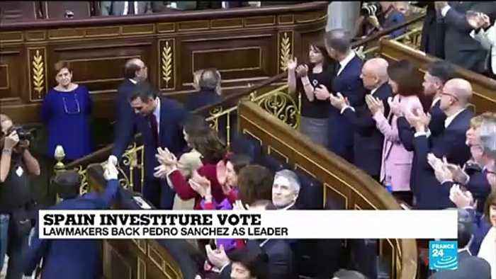 Spanish Prime Minister Pedro Sánchez wins parliamentary vote to form coalition government