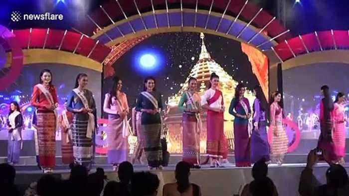 Women take part in beauty pageant qualifying rounds for Miss Thailand competition