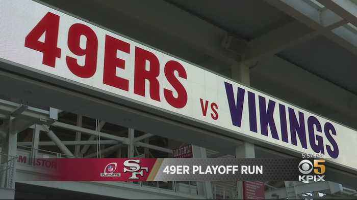49er Faithful Amped Up For 1st Playoff Game At Levi's Stadium