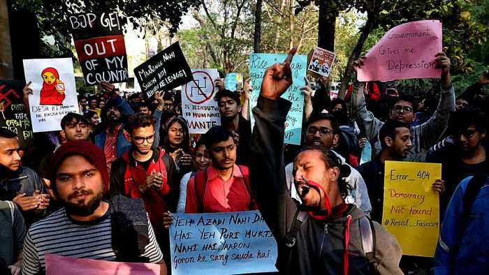India campus violence: Nationwide solidarity protests held