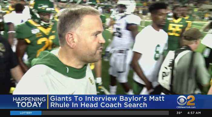 NY Giants To Interview Baylor Coach Matt Rhule