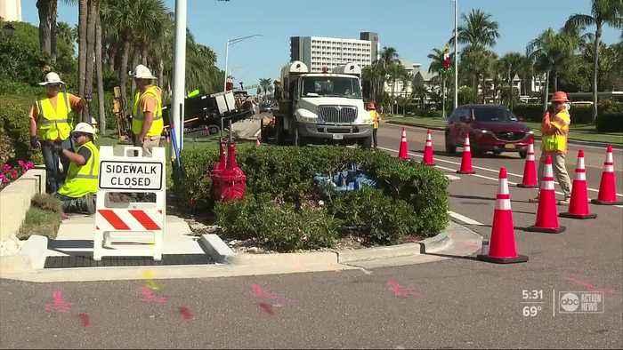 Construction begins on Gulf Boulevard through Sand Key