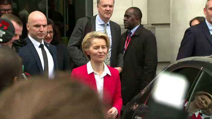 EU Commission President departs LSE ahead of PM meeting