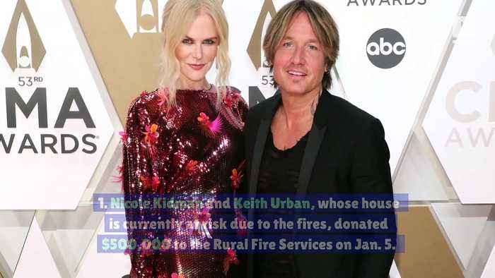 8 Celebrities Who Have Donated to Fight Australia's Wildfires