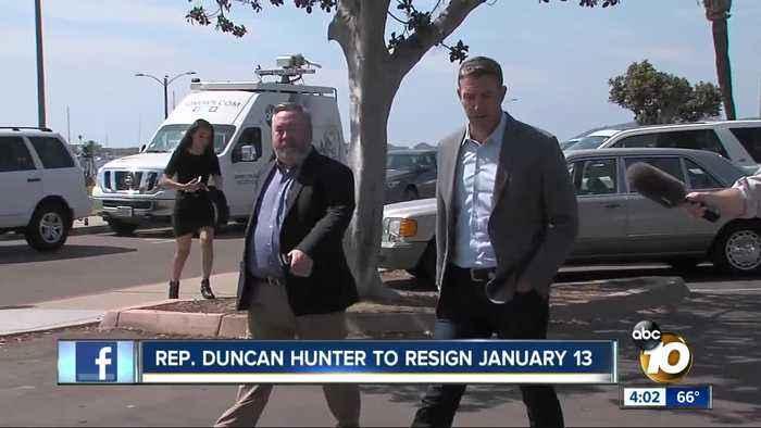 Congressman Hunter announces resignation date