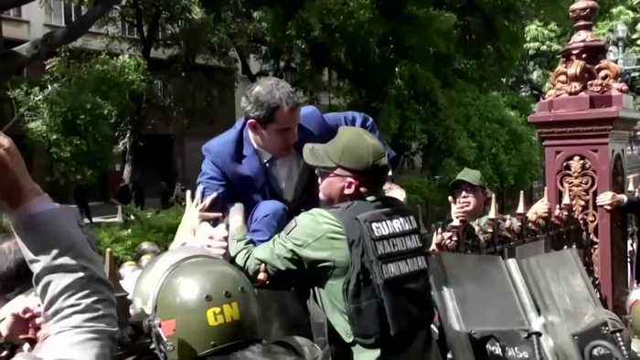 Venezuela's Guaido condemns seizure of parliament