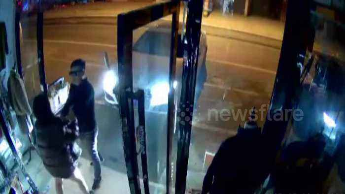'Drink driver' smashes into friend's shop and threatens staff with sword in China