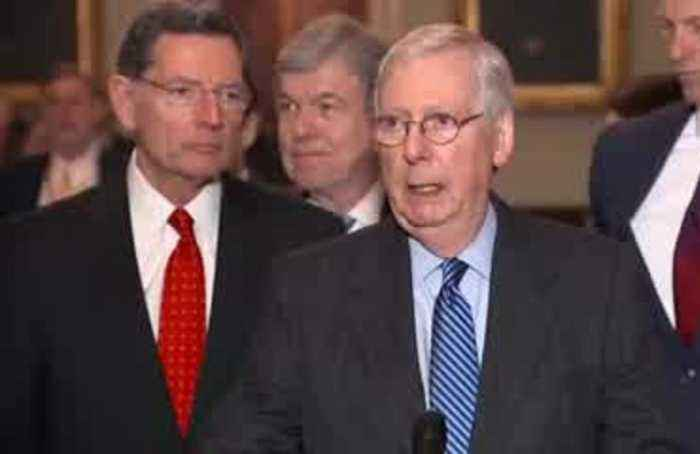 Senate Republicans close ranks on rules for Trump impeachment trial