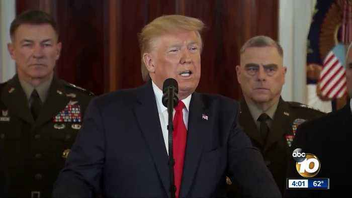 President Trump insists Iran is 'standing down' after attack