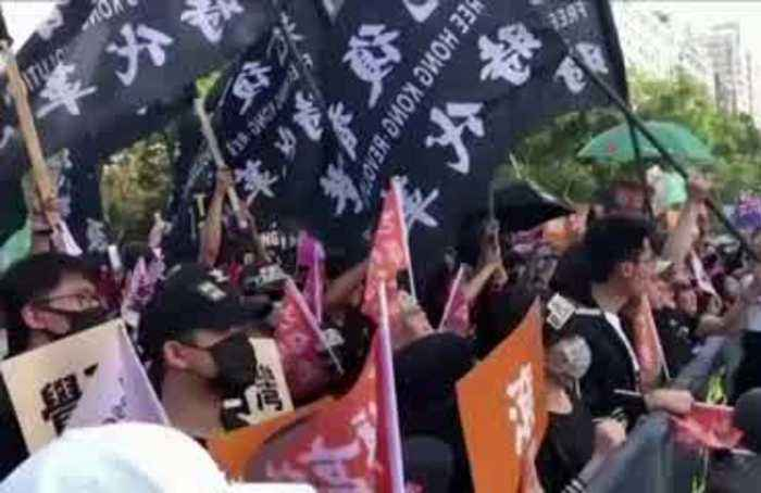 HK protesters in Taiwan fear election results