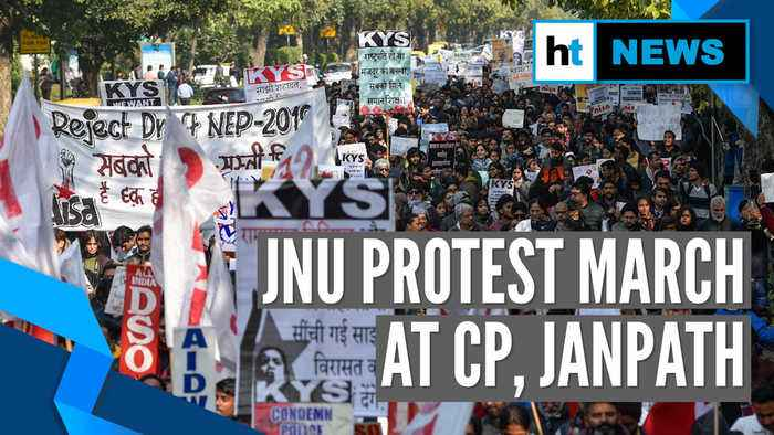 JNU students demand VC's ouster; protest march to Rashtrapati Bhavan halted