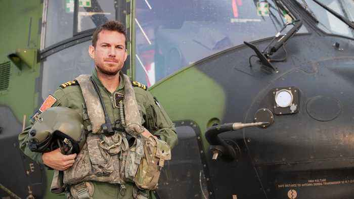 Royal Navy pilot speaks about his role in Australia bush fire evacuations