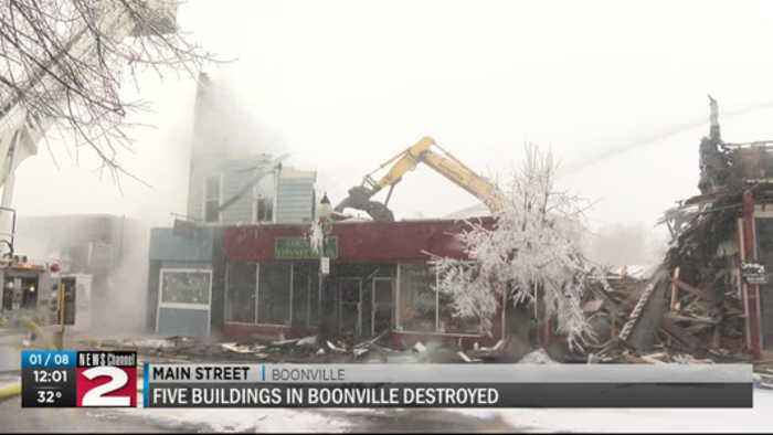 Five buildings destroyed in Boonville fire
