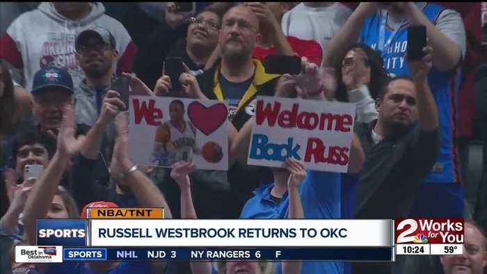 Russell Westbrook makes return to OKC, receives huge ovation