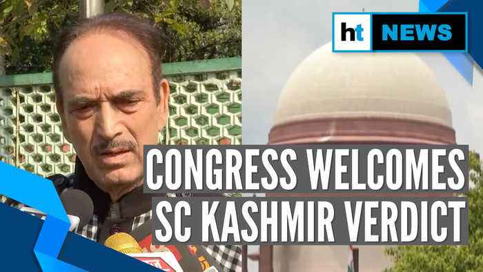 'Govt can't get away with everything': Congress lauds SC Kashmir verdict
