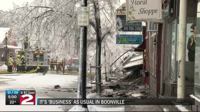 Boonville businesses lost in fire