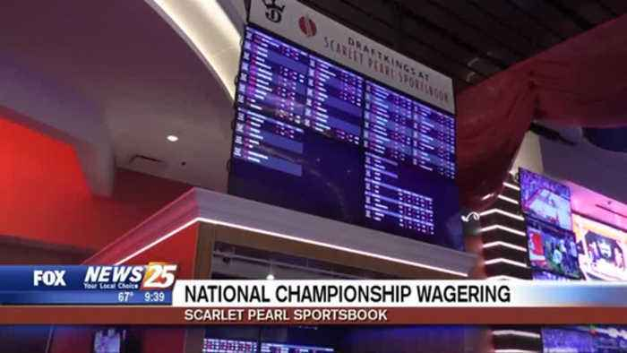 National Championship wagering at the Scarlet Pearl Sportsbook