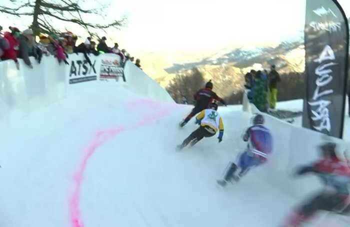 Naasz and Legere race to wins at Red Bull Ice Cross in France