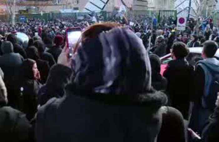 'Our children were killed': thousands protest in Iran