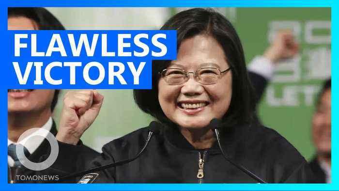 Taiwan President Tsai wins 2nd term in massive landslide