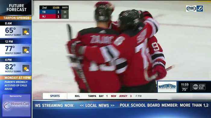 New Jersey Devils end Tampa Bay Lightning's team record tying 10-game win streak