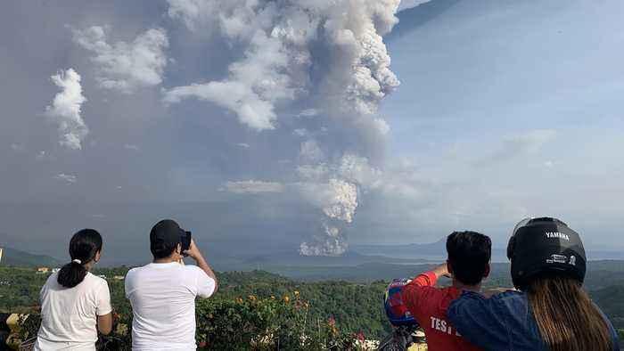 Volcanic tsunami feared as Philippine volcano spews molten lava
