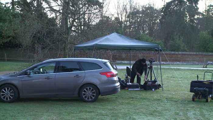 World's media gather outside Sandringham estate ahead of crisis talks