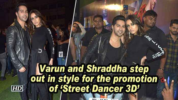 Varun and Shraddha step out in style for the promotion of 'Street Dancer 3D'