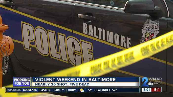 Five dead, seven hurt in eight Saturday shootings in Baltimore