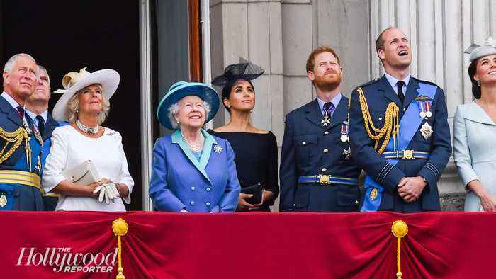 Queen Elizabeth Supports Prince Harry and Meghan Markle's 'Period of Transition'   THR News