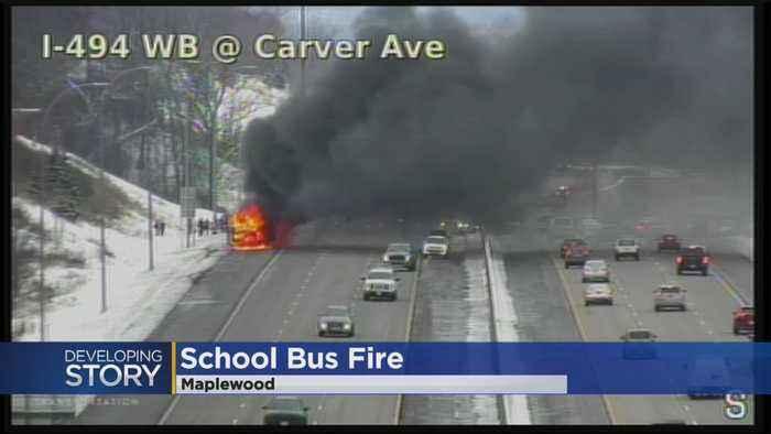 Richfield School Bus Erupts In Flames