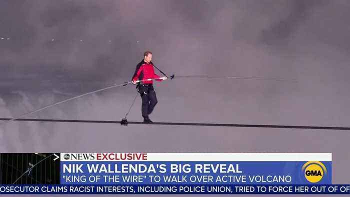 King of the wire Nik Wallenda to walk across an active volcano on live television