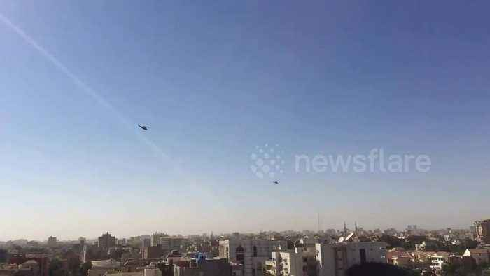 Military helicopters spotted over Khartoum amid clashes