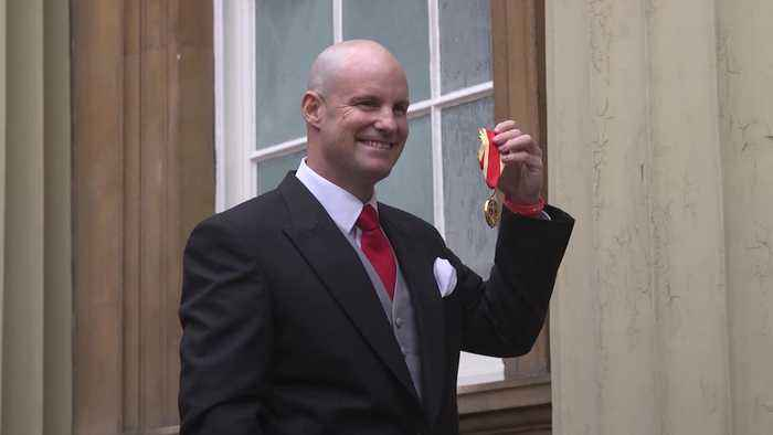 Sir Andrew Strauss receives knighthood at Buckingham Palace