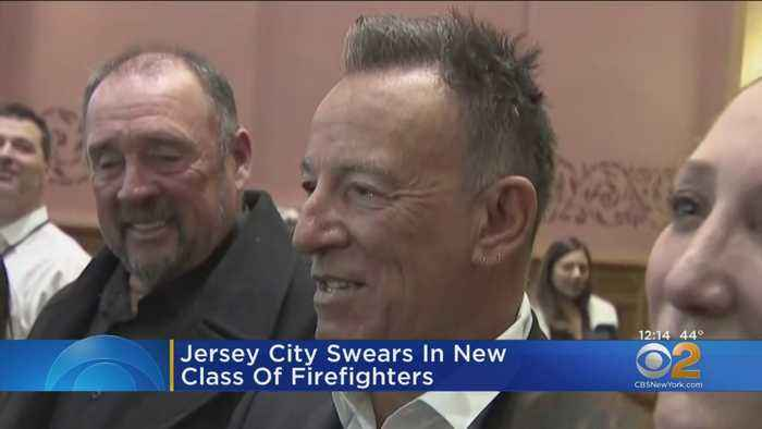 Bruce Springsteen's son sworn in as Jersey City firefighter
