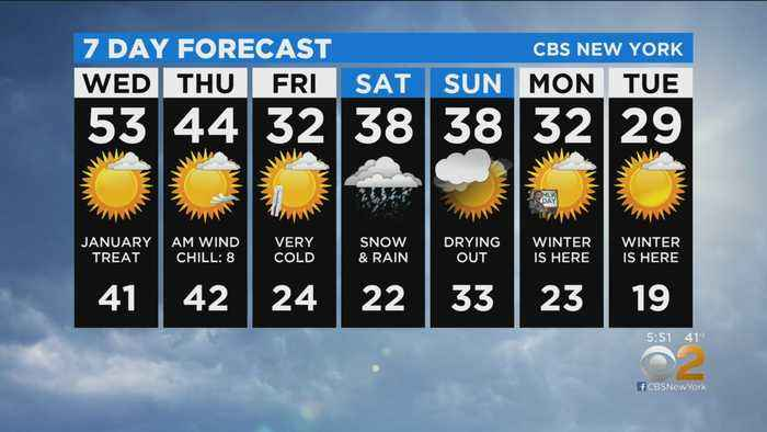 New York Weather: CBS2 1/14 Evening Forecast at 5PM
