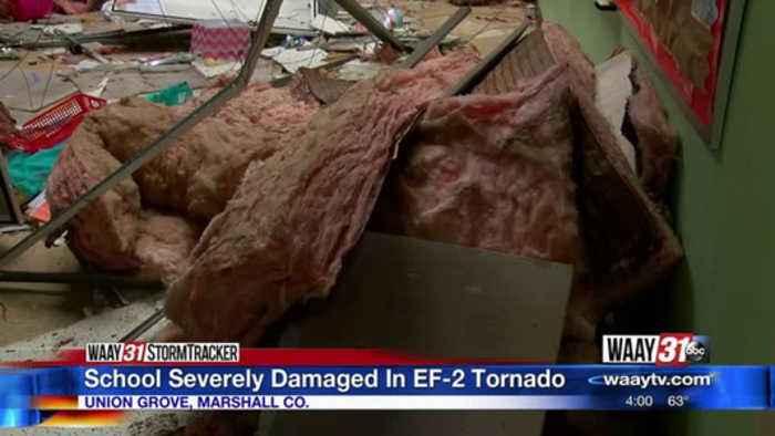 Brindlee Mountain Primary cleanup begins after tornado damage