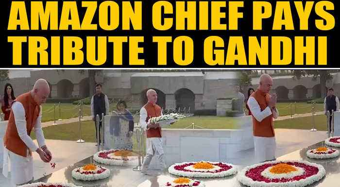 Amazon Chief Jeff Bezos on a 3-day India visit, pays tribute at Rajghat | OneIndia News
