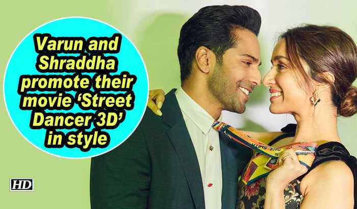 Varun and Shraddha promote their movie 'Street Dancer 3D' in style